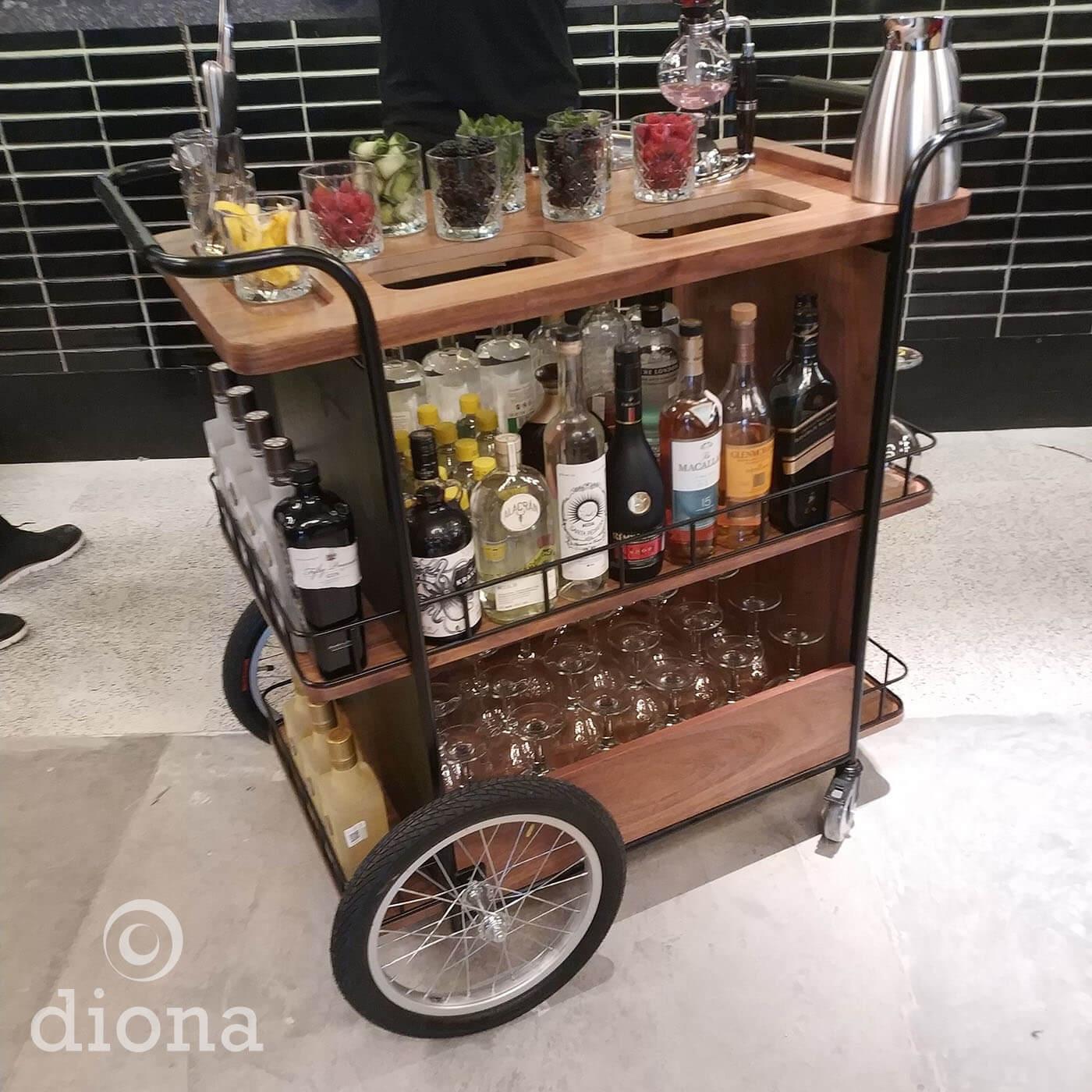 diseño industrial, mobiliario - Cocina Abierta, Artz Pedregal, Trolley Bar, fabricación, diona