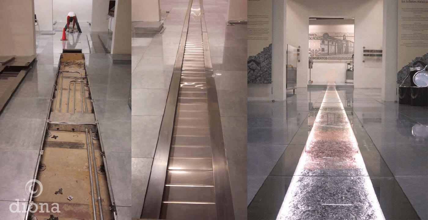 diseño industrial, mobiliario - MIDE, Museo Interactivo de Economía, diseño, fabricación diona