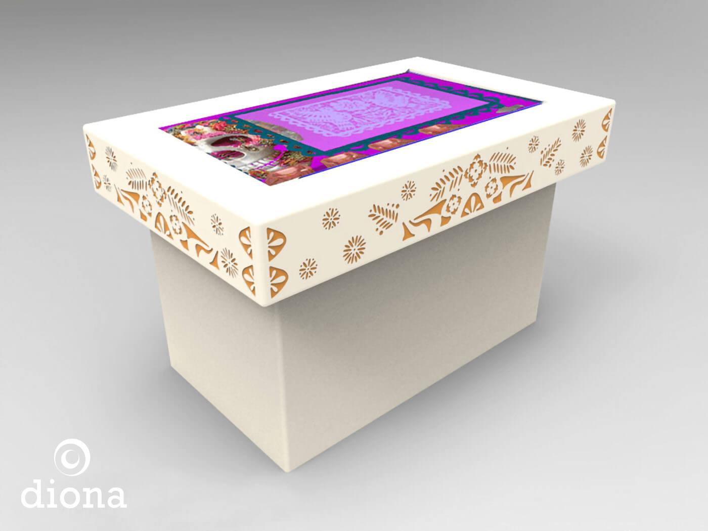 diseño industrial, mobiliario - Museo del Alfeñique, Toluca, diseño, fabricación, mobiliario, diona