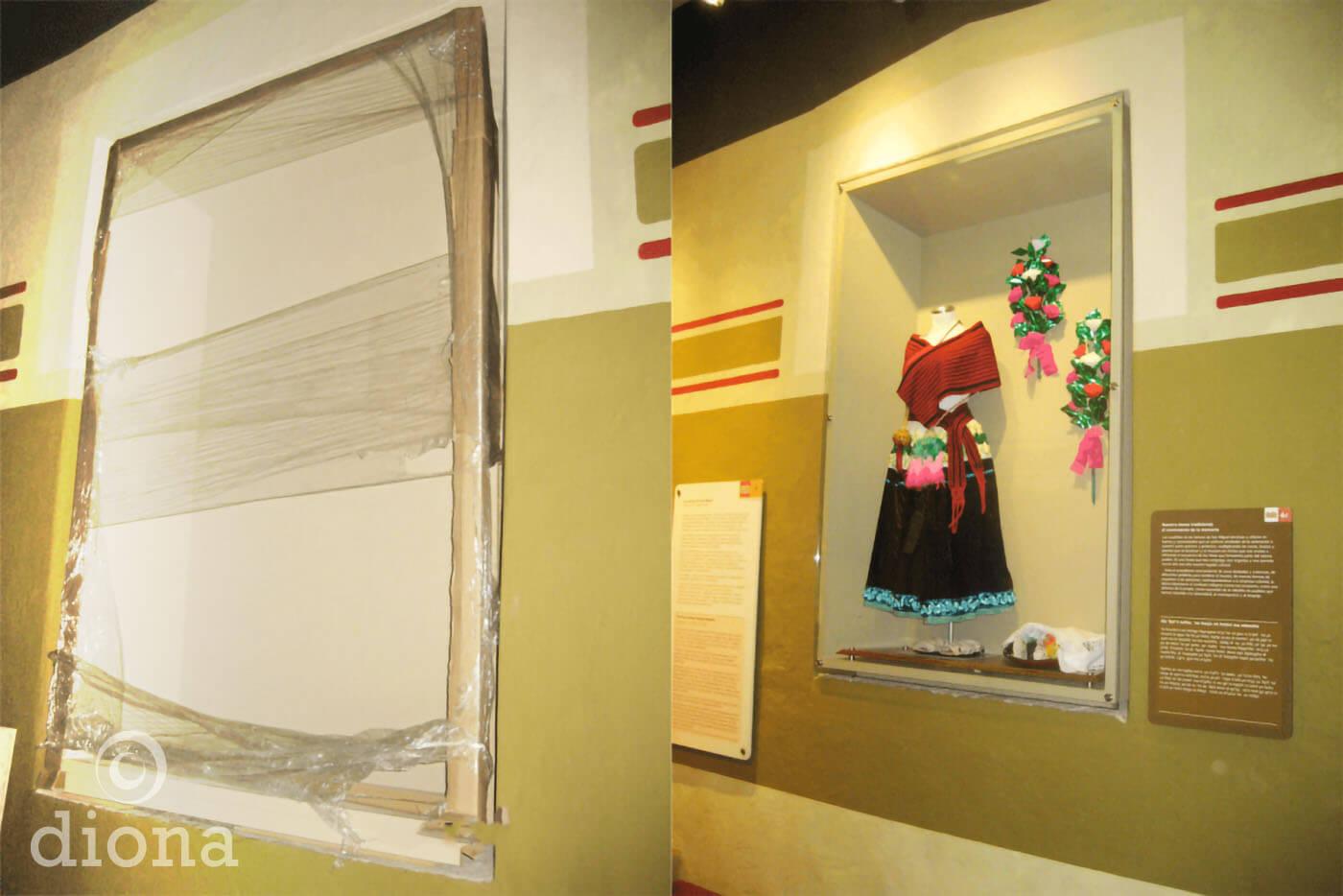 diseño industrial, mobiliario - Museo Comunitario de la Cultura Ñöñho, San Miguel Tolimán, Querétaro diona