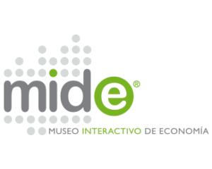 logotipo MIDE, Museo Interactivo de Economía, diona
