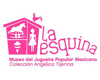 logotipo La Esquina, Museo del Juguete Popular Mexicano, San Miguel de Allende, diona